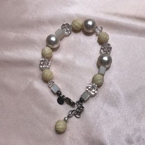 Emily Ray 925 Bracelet pearls,stones,crystals.